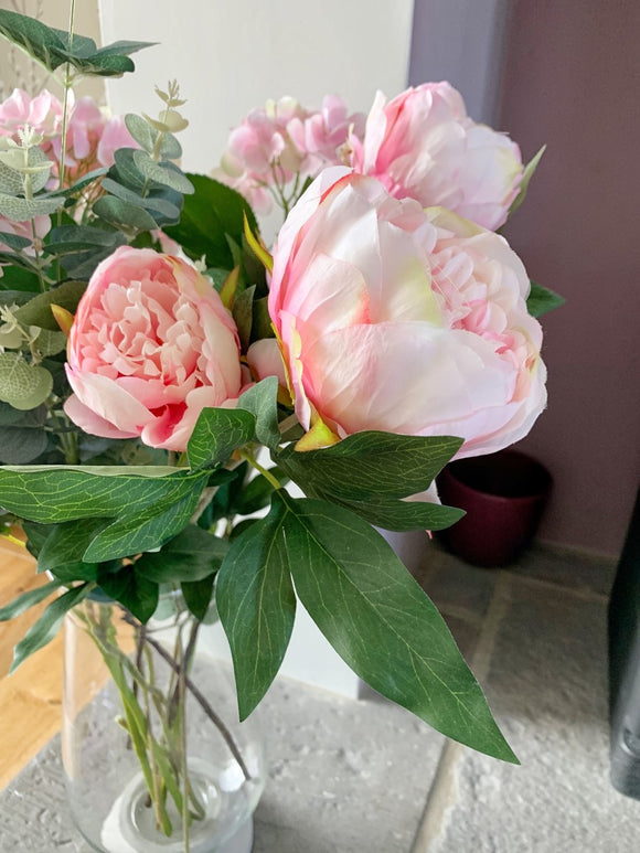 Peony Spray - Light Pink