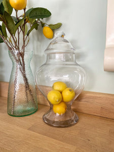 Glass Ginger Jar