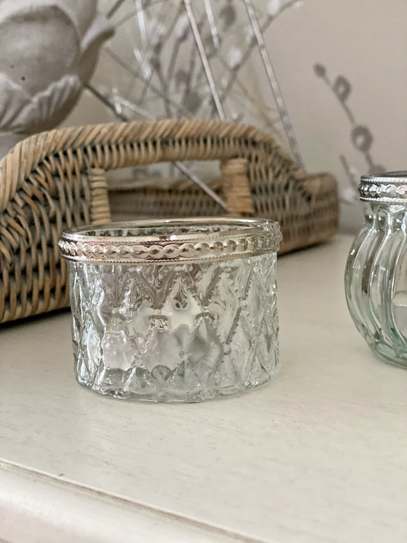 Evie Clear Diamond Tea-Light Holder