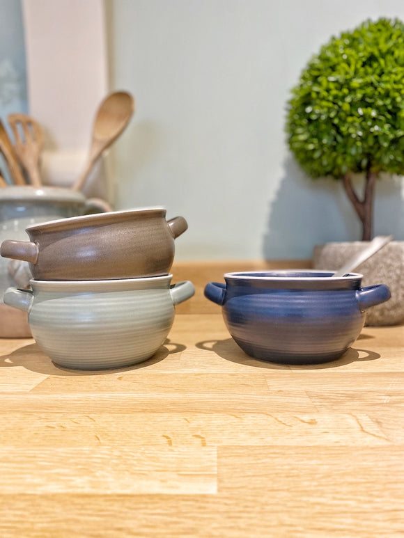 Stoneware Bowl - Choice of 3 Colours