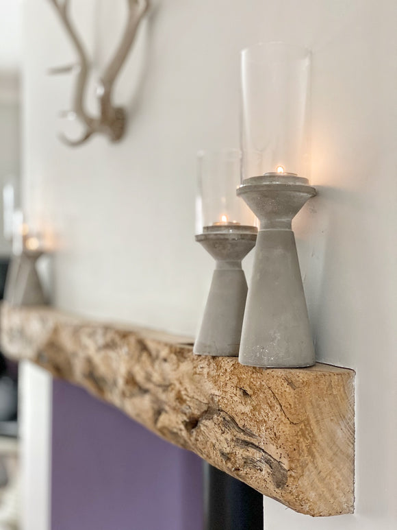 Stone Candle Holder - Tall
