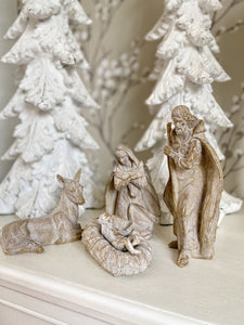 PERFECTLY IMPERFECT - Wooden Nativity Set.