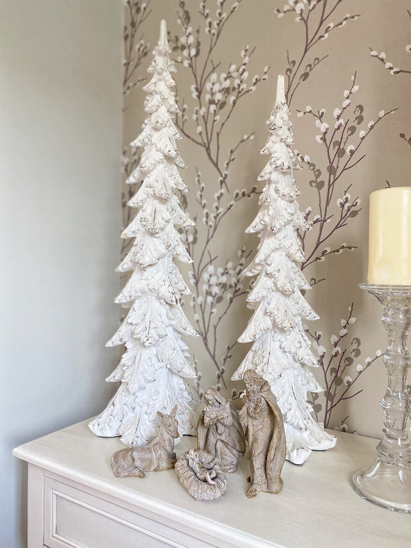 White Glitter Tree - 2 Sizes