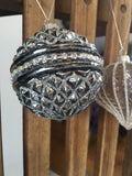 Diamond Patterned Glass Bauble