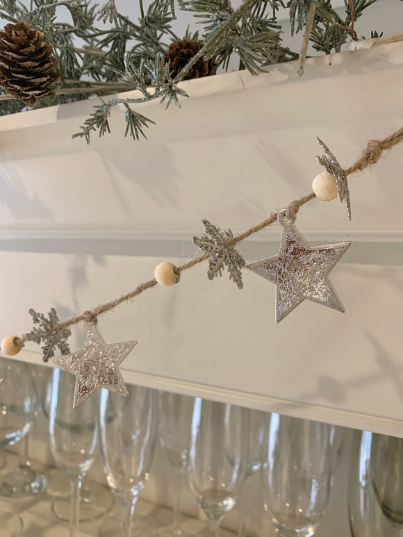 Snowflake and Star String Garland