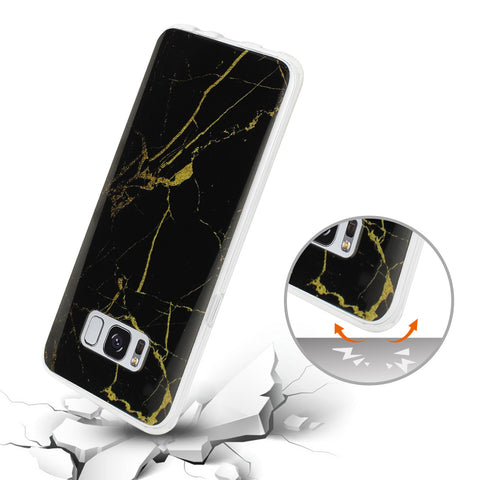 Samsung S8 Edge Plus Case Cover Marble Black