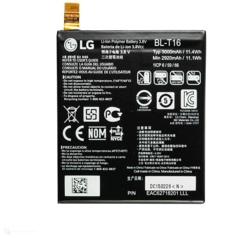 Original LG G Flex 2 BL-T16 3000mAh 3.8V Replacement Battery Bulk