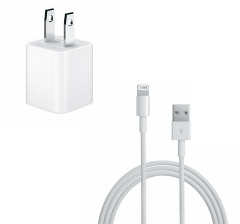 Apple iPhone charger 5W + USB Lightning Charging cable Bulk