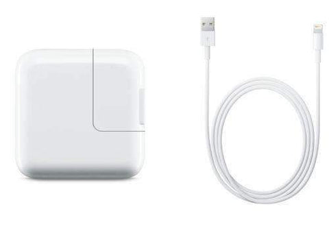 Apple iPad 12W Adapter + Lightning Charging Cable Bulk