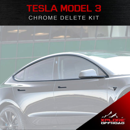 Tesla Model 3 | Full Chrome Delete Kit | 2017-2019 (Satin Black)