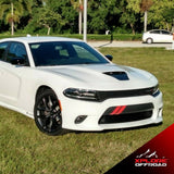 Charger V8 Vent Hash Marks Front Bumper Decals | Gloss Red | 2015-2019