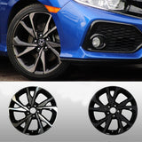 Honda Civic Sport Alloy Wheels Blackout Wrap KIt l Chrome Delete Vinyl | Full Set | 2018-2020