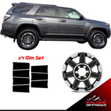 XPLORE OFFROAD - 4Runner TRD | Precut Alloy Wheels Chrome Delete Blackout Wrap Kit | 2017+