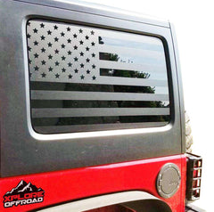 Jeep Wrangler | Precut American Flag Window Decals | 2007-2017 (4 Door) - XPLORE OFFROAD®