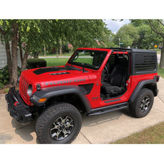 Jeep Wrangler | Precut American Flag Window Decals | 2011 - 2017 (2 Door)