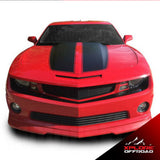 Dodge Camaro Front Bumper Fascia Blackout Vinyl Decal | Matte Black | 2010-2013