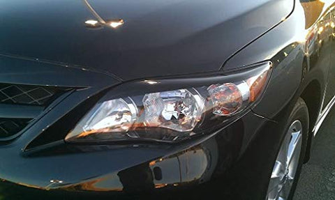 Corolla Headlight Accent Decals | Gloss Black | Precut | 2011-2013