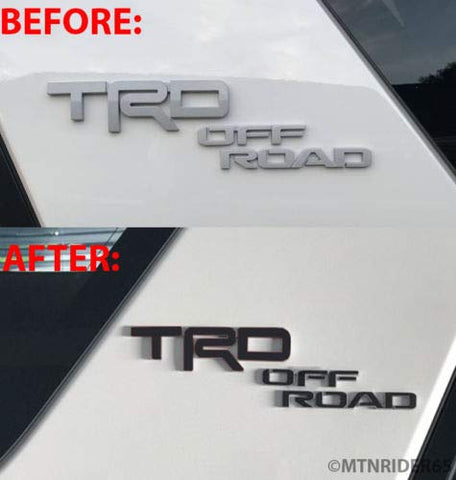 XPLORE OFFROAD - 4Runner TRD | Precut Emblem Overlay Chrome Delete Blackout Wrap Kit | 2017+