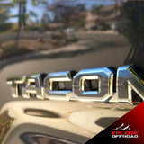 Tacoma | Precut Emblem Overlay Chrome Delete Blackout Wrap Kit | 2016-2020