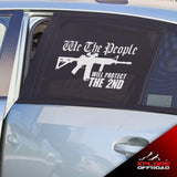 American Amendment Flag Decals | Protect The 2nd | Matte White | Universal Fit