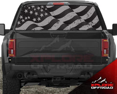 American Flag Rear Window Decals for Car, Truck & SUV (Blowing in Wind)
