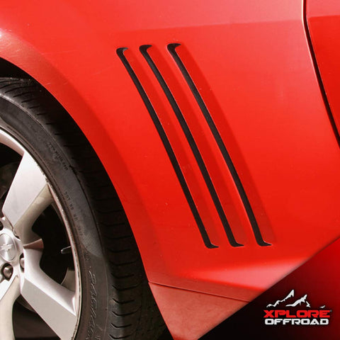 Chevy Camaro Side Vent Insert Stripe Decals | 2010-2015 | Matte Black | Both Sides