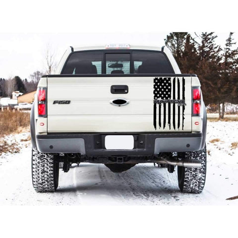 American Flag Truck Decal for Rear Truck Tailgate | Free Tools