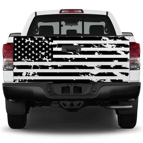 Distressed American Flag Tailgate Decal for Trucks | Free Tools
