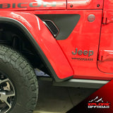 Jeep Wrangler JL 2018+ Rubicon Fender Vent Decals | Matte Black & Precut | Both Sides