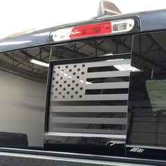 Dodge Ram Middle Window American Flag Decal | Matte Black | 2009 - 2021