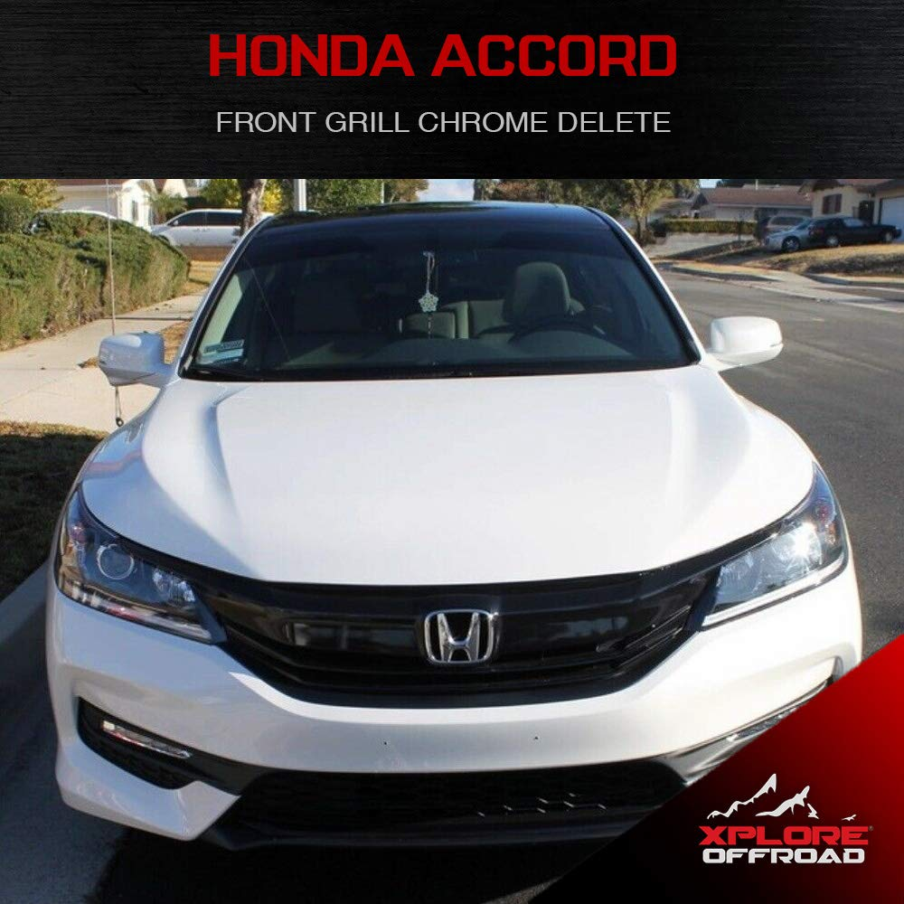 Accord Sedan Precut Front Grill Chrome Delete Blackout