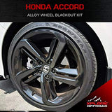 Honda Accord Sport | Precut Alloy Wheels Chrome Delete Blackout Wrap Kit | 2018-2019