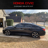 Civic Sedan | Chrome Delete Kit | Precut Black Auto Vinyl | 2016-2019