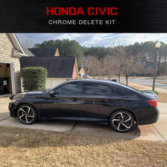 Honda Civic Sedan | Chrome Delete Kit | Precut Black Auto Vinyl | 2016-2019