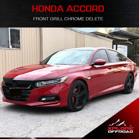 Accord Sedan | Precut Front Grill Chrome Delete Blackout Wrap Kit | 2016-2017