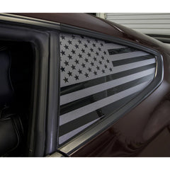 "American Flag Window Decals | Cars, Trucks, Jeeps, SUVs | Universal Fit | Both Sides (28"" x 16)"