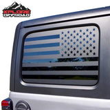 Jeep Wrangler | Precut American Flag Window Decals | 2007-2017 (4 Door)