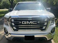 GMC Sierra Emblem Overlay Decals fits 2019 - 2021 | Front & Rear | Gloss White