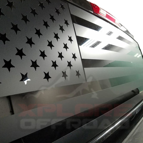 American Flag Rear Window Decals for Trucks & SUVS - XPLORE OFFROAD®