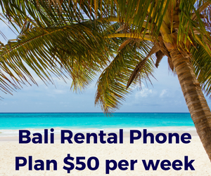 Bali Phone Package Rental. 10gb per week