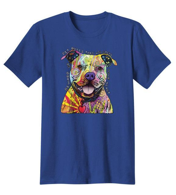 Colorful Pit Bull T-Shirt, Apparel, Pit Bull Pride Supply
