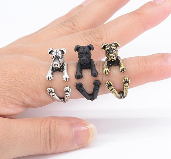 Cuddly Pit Bull Terrier Ring, Jewelry, Pit Bull Pride Supply
