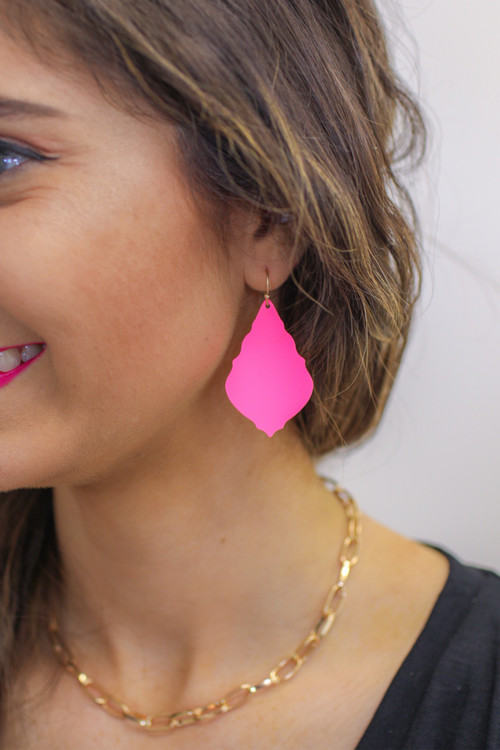 Madden Pink Drop Earrings
