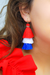 Red, White and Blue Tassel Earrings