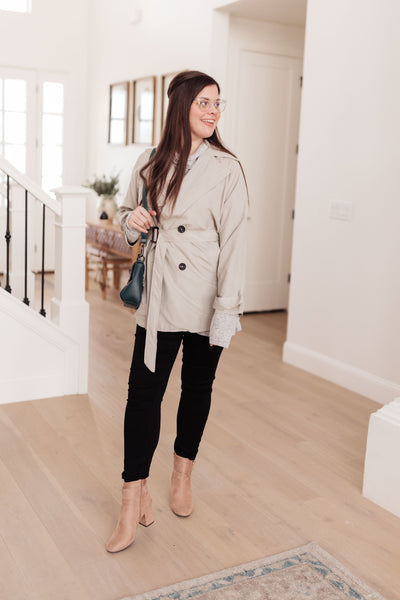 Double Agent Short Trench Coat