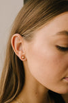 Subtle Holiday Feels Small Stud Earrings in Gold