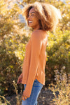 The Wendi Top in Harvest Orange