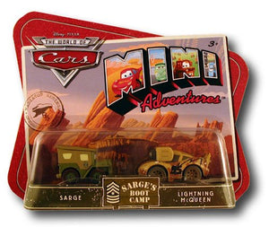 Disney Pixar World of Cars Mini Adventures - Sarge's Boot Camp with Sarge & Lightning McQueen