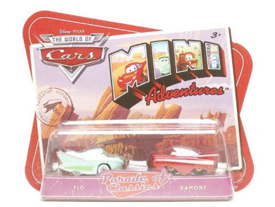 Disney Pixar World of Cars Mini Adventures -  Flo & Ramone Vehicles