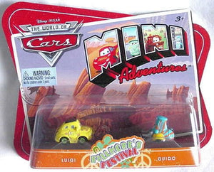Disney Pixar World of Cars Mini Adventures - Fillmore's Festival Luigi & Guido Car Set